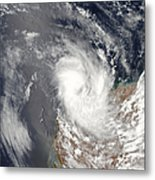 Cyclone Dominic Off The Shore Metal Print