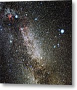 Cygnus And Lyra Constellations Metal Print