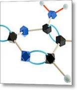Cytosine Molecule Metal Print by Lawrence Lawry