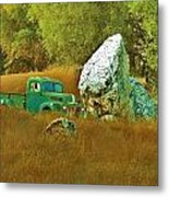 Daddy's Truck Metal Print by Helen Carson