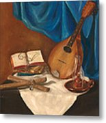 Dad's Mandolin Metal Print