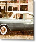 Dad's Old Car Metal Print