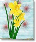 Daffodills Metal Print