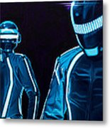 Daft Punk Metal Print by Ellen Patton