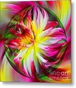 Dahlia Flower Energy Metal Print