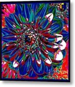 Dahlia With Intense Primaries Effect Metal Print