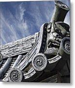 Daigo-ji Temple Roof Gargoyle - Kyoto Japan Metal Print