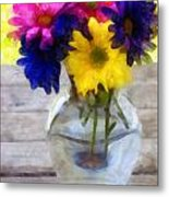 Daisy Crazy Revisited Metal Print