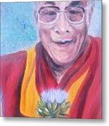 Dalai Lama-peace And Harmony Metal Print