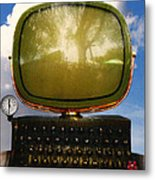 Dali.s Surreal Steampunk Personal Computer With Upgrades Metal Print