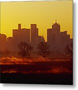 Dallas Skyline At Sunrise Metal Print by Jeremy Woodhouse