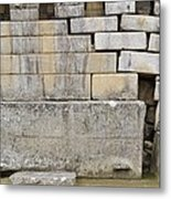 Damaged Wall, Machu Picchu, Peru Metal Print