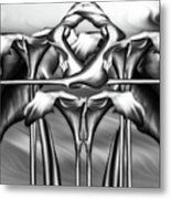 Dance Of The Black And White Calla Lilies Vi Metal Print
