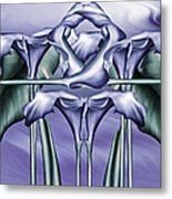 Dance Of The Blue Calla Lilies Iv Metal Print