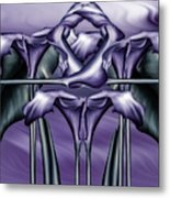 Dance Of The Purple Calla Lilies V Metal Print