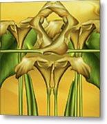 Dance Of The Yellow Calla Lilies II Metal Print