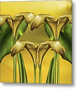 Dance Of The Yellow Calla Lilies Metal Print