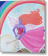 Dance With The Fairy Queen Metal Print
