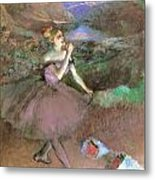 Dancer With Bouquest Metal Print