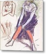 Dancer With Red Stockings Metal Print