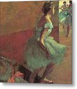 Dancers Climbing A Stair Metal Print by Edgar Degas