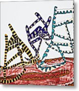 Dancing Chairs Metal Print