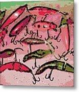 Dancing Colors Metal Print