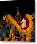 Dancing Feathers Metal Print