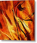 Dancing Fire Vi Metal Print