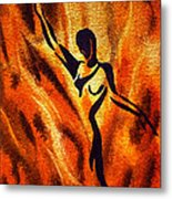 Dancing Fire Vii Metal Print