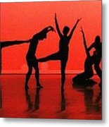Dancing In Red Metal Print by Kenneth Mucke