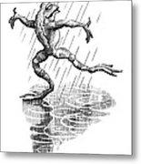 Dancing In The Rain, Conceptual Artwork Metal Print by Bill Sanderson