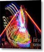 Dancing Lights  Magical Light Trails Metal Print