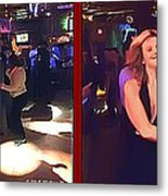 Dancing New Years Eve - Gently Cross Your Eyes And Focus On The Middle Image Metal Print