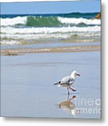 Dancing On The Beach Metal Print