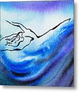 Dancing Water IIi Metal Print