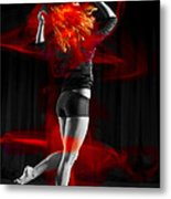 Dancing With My Hair On Fire Metal Print