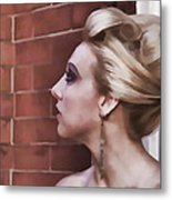 Dangling Earring Metal Print