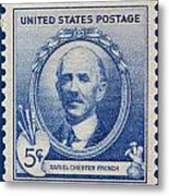 Daniel Chester French Postage Stamp Metal Print