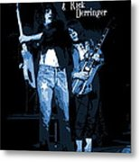 D J  And R D  Playing The Blues 1977 Metal Print