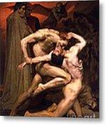 Dante And Virgil In Hell Metal Print