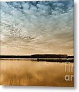 Danube River-sunset Metal Print