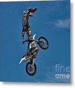Daredevil Motorcyclist Metal Print
