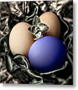 Dark Blue Easter Egg Metal Print