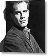 Dark City, Charlton Heston, 1950 Metal Print by Everett
