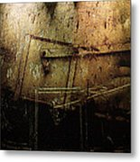 Dark Door Metal Print
