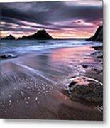 Dark Sunrise On Hidden Bay Metal Print