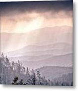 Dark Vista Over The Smokys Metal Print by Pixel Perfect by Michael Moore