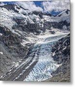 Dart Glacier Above Cascade Saddle Mount Metal Print