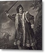 David Garrick 1717-1779, English Actor Metal Print
